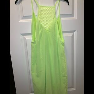 Other - Beach cover up- neon yellow